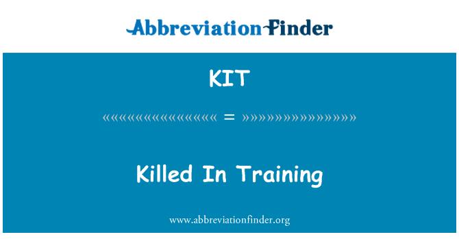 KIT: Killed In Training