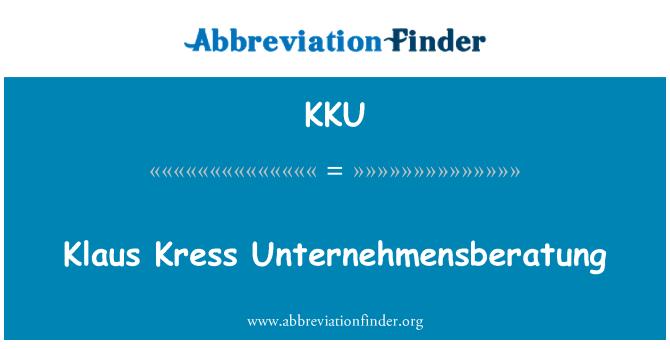KKU: Klaus Kress Unternehmensberatung