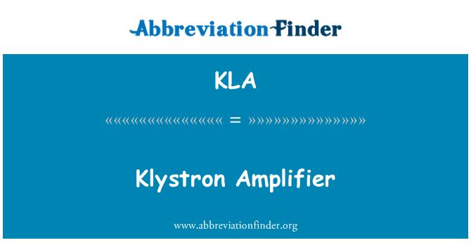 KLA: Klystron Amplifier
