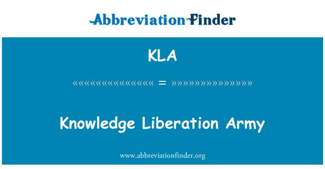 KLA: Knowledge Liberation Army