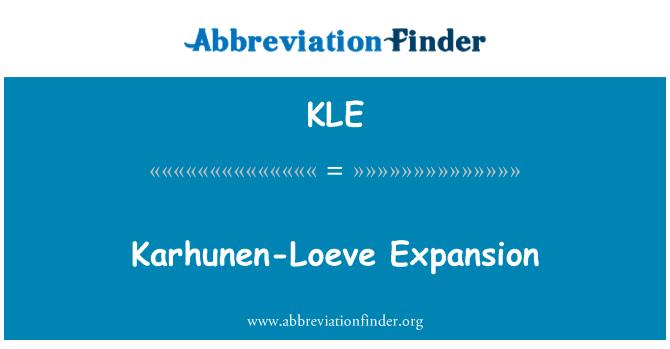 KLE: Karhunen-Loeve Expansion