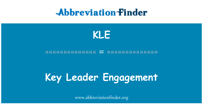 KLE: Key Leader Engagement