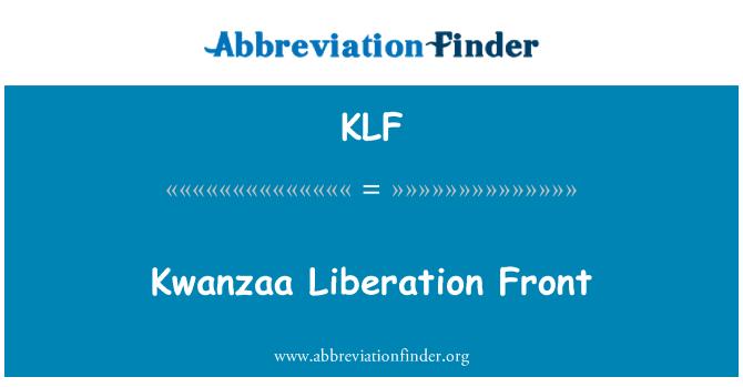 KLF: Kwanzaa Liberation Front