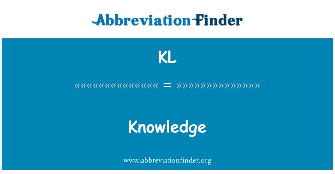 KL: Knowledge