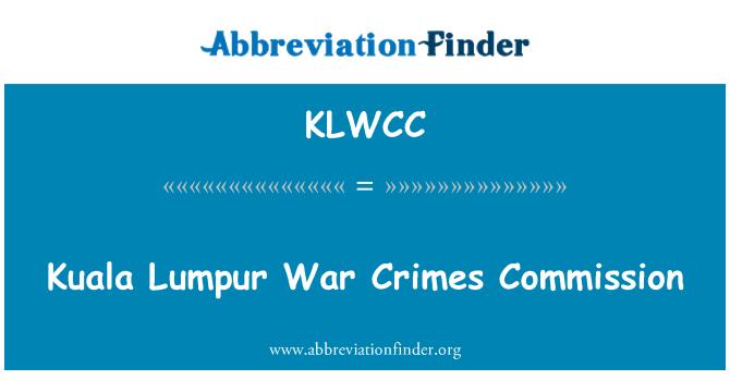 KLWCC: Kuala Lumpur War Crimes Commission