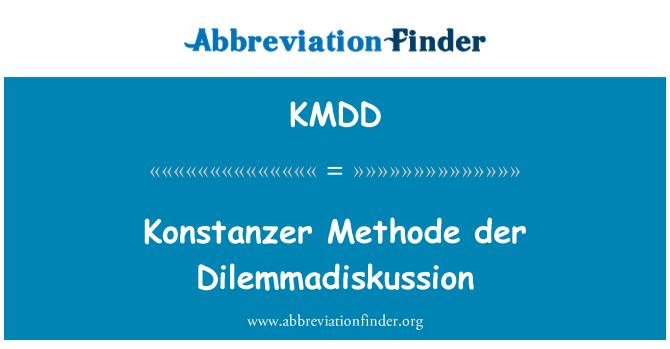 KMDD: Konstanzer Methode der Dilemmadiskussion