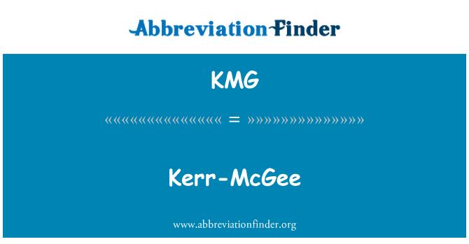 KMG: Kerr-McGee