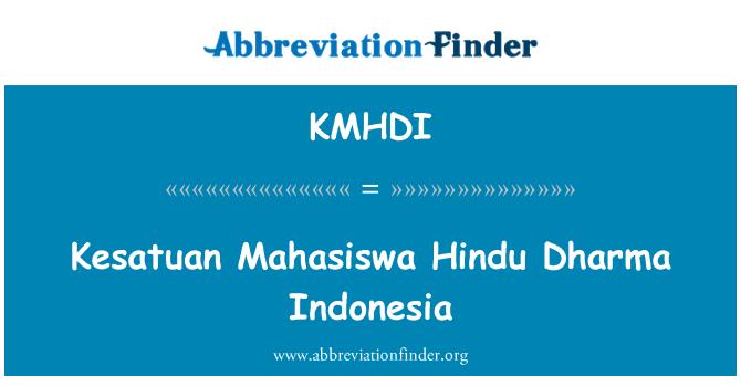 KMHDI: Kesatuan Mahasiswa Hindu Dharma Indonesia