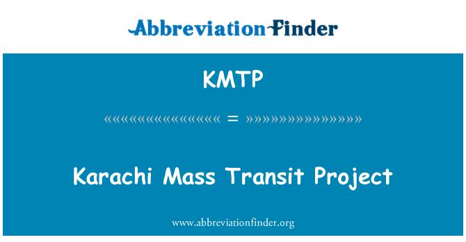 KMTP: Karachi Mass Transit Project