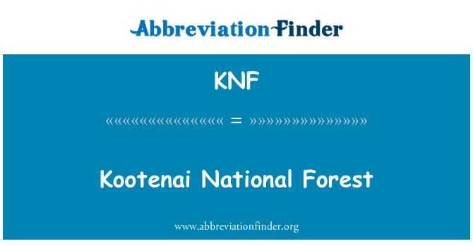 KNF: Kootenai National Forest
