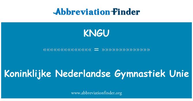 KNGU: Koninklijke Nederlandse Gymnastiek Unie