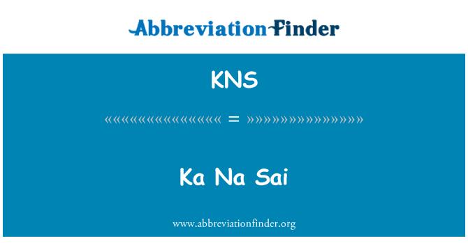 KNS: Ka Na Sai