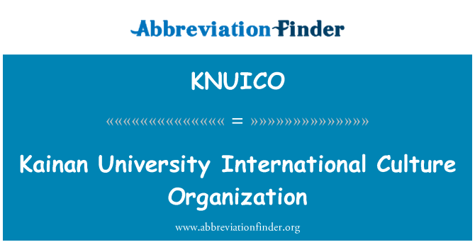 KNUICO: Kainan University International Culture Organization