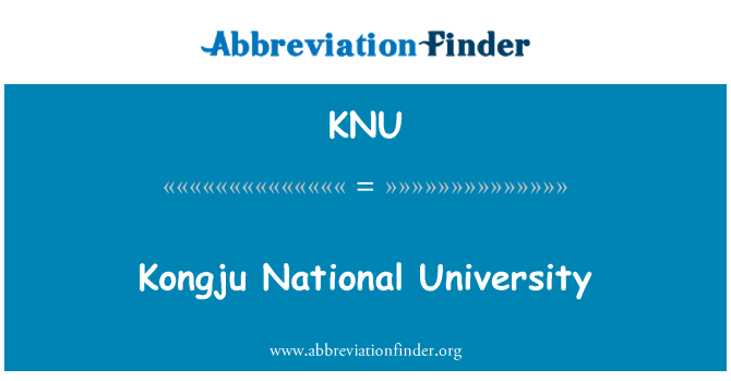 KNU: Kongju National University
