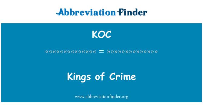 KOC: Kings of Crime