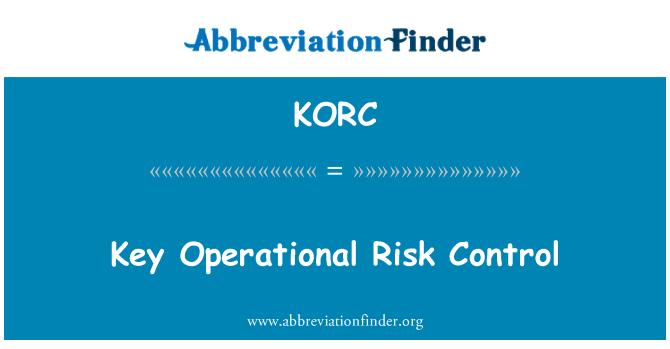 KORC: Key Operational Risk Control