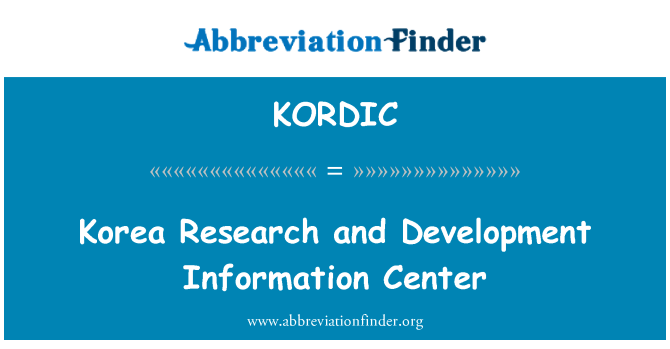 KORDIC: Korea Research and Development Information Center