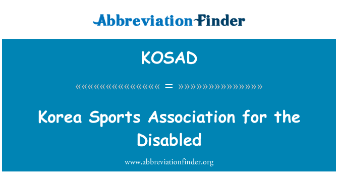 KOSAD: Korea Sports Association for the Disabled