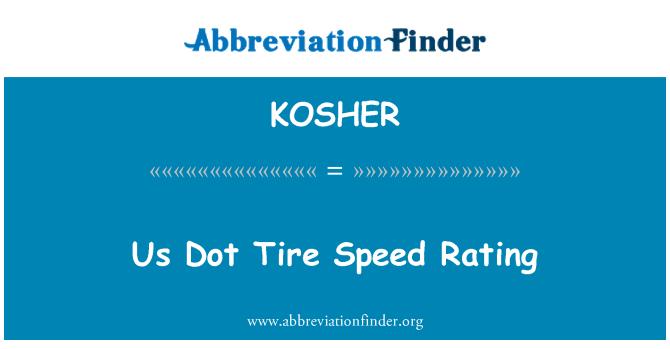 KOSHER: Kita Dot penarafan kelajuan tayar