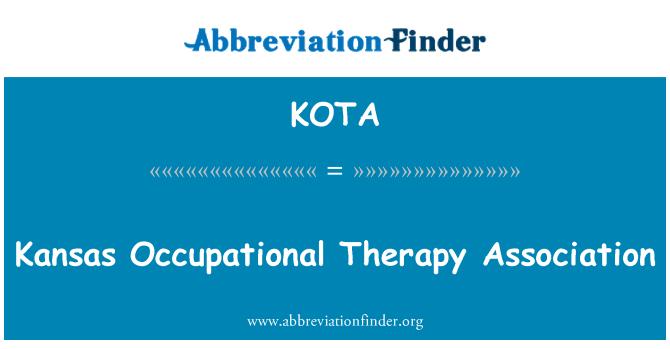 KOTA: Kansas Occupational Therapy Association
