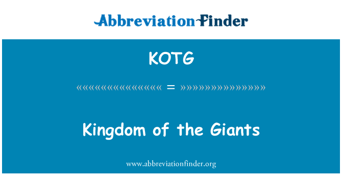 KOTG: Kingdom of the Giants