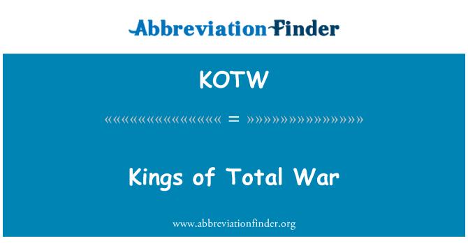 KOTW: Kings of Total War