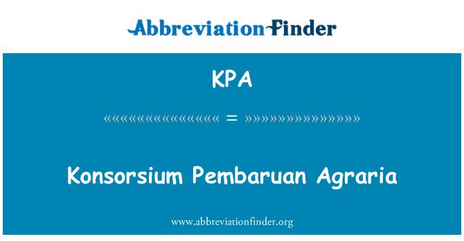 KPA: Konsorsium Pembaruan Agraria