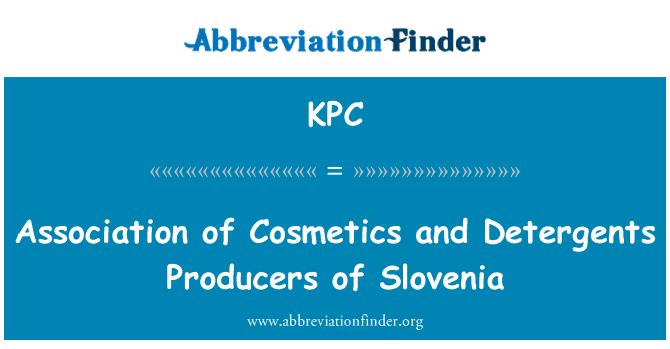 KPC: Association of Cosmetics and Detergents Producers of Slovenia