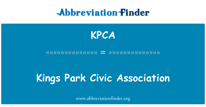 KPCA: Kings Park Civic Association