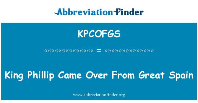 KPCOFGS: Phillip King vino desde España gran