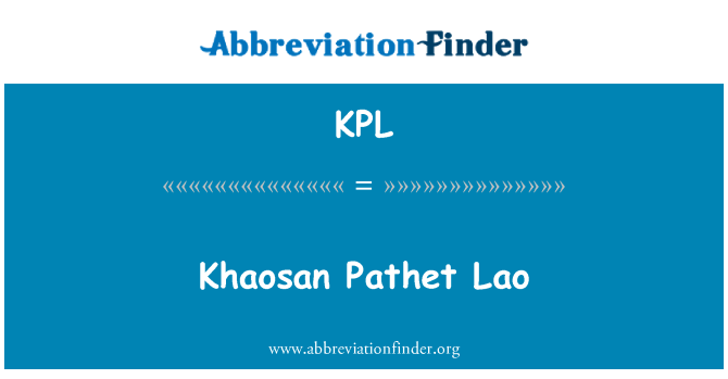 KPL: Khaosan Pathet Lao