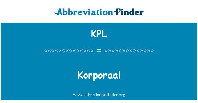 KPL: Korporaal