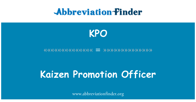 KPO: Kaizen Promotion Officer
