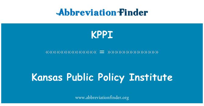 KPPI: Канзас інституту публічної політики