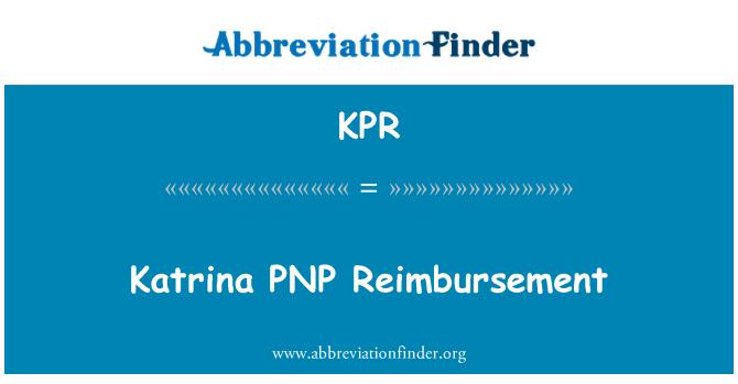 KPR: Katrina PNP Reimbursement