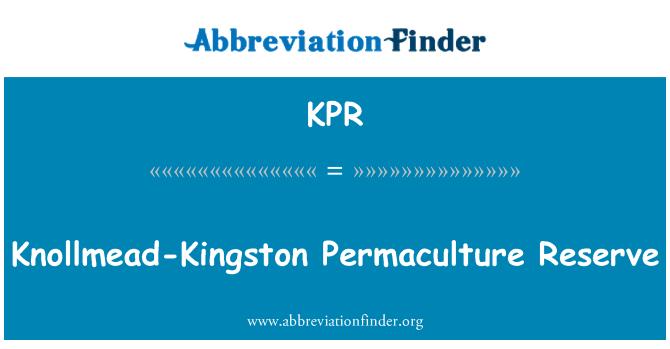 KPR: Knollmead-Kingston Permaculture Reserve
