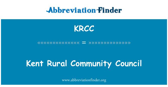 KRCC: Consejo de la comunidad Rural de Kent