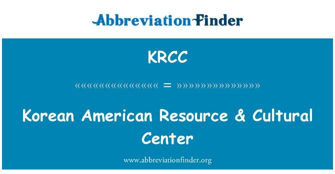 KRCC: Recursos coreanos americanos & Centro Cultural