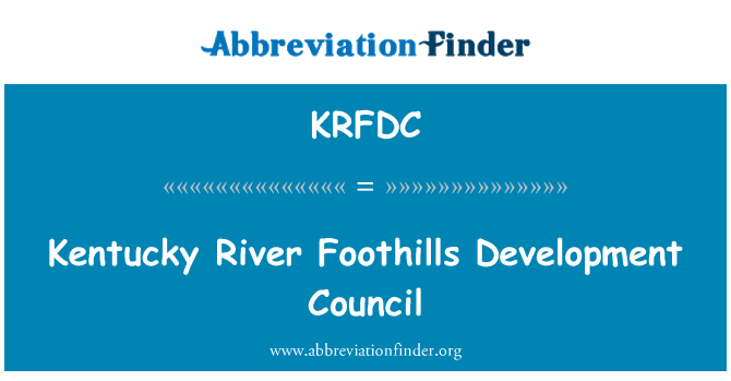 KRFDC: Kentucky River Foothills Development Council