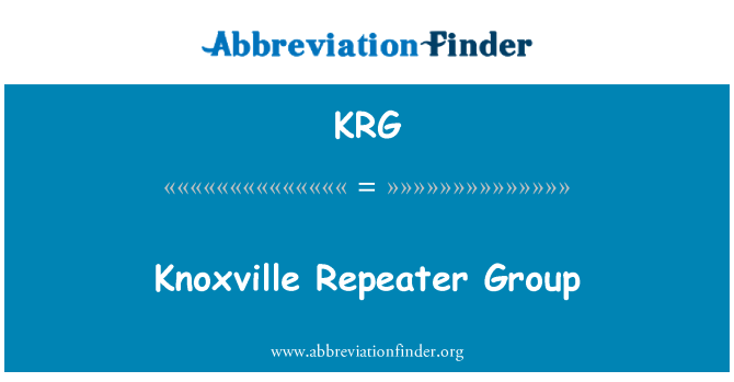 KRG: Knoxville Repeater Group
