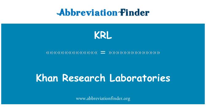 KRL: Khan Research Laboratories