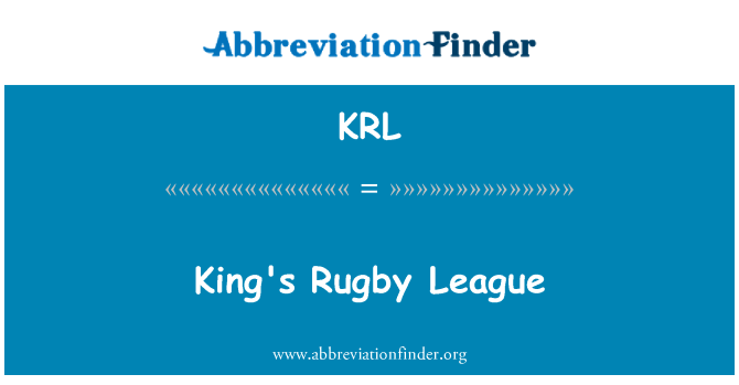 KRL: King's Rugby League