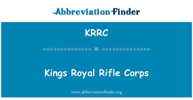 KRRC: Kings Royal Rifle Corps
