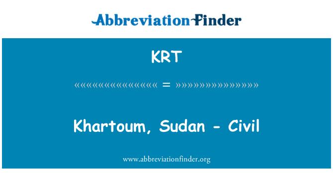 KRT: Khartoum, Sudan - Civil