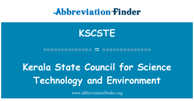 KSCSTE: Kerala State Council for Science Technology and Environment