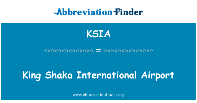 KSIA: King Shaka International Airport