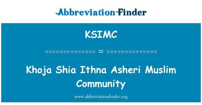 KSIMC: Khoja Shia Ithna Asheri Muslim Community