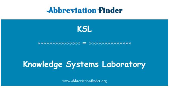 KSL: Knowledge Systems Laboratory