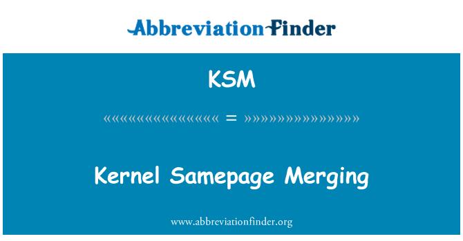 KSM: Kernel Samepage Merging