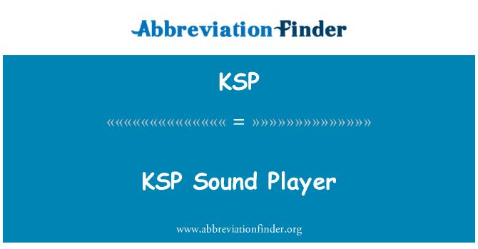 KSP: KSP Sound Player
